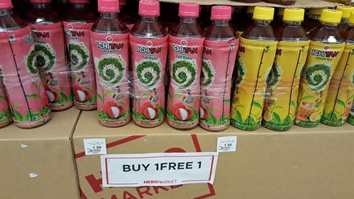 Buy one get one free at Hero Supermarket as of 24 July 2016
