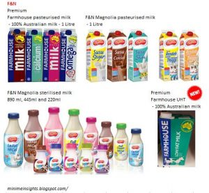 F&N milk range