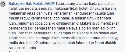 Jakim reply